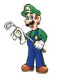 Mario Golf artwork: Luigi