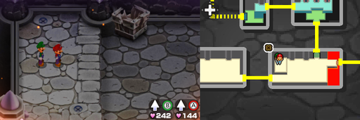 Location of the last 2 beanholes in Bowser's Castle.