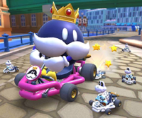 The icon of the Wario Cup challenge from the Berlin Tour in Mario Kart Tour.