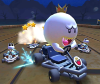 The icon of the Donkey Kong Cup challenge from the London Tour and the Waluigi Cup challenge from the Cooking Tour in Mario Kart Tour.