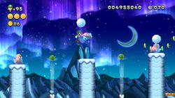 Screenshot of Fliprus Floes in New Super Luigi U.