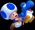 NSMBU Blue Toad and Baby Yoshi Artwork.png