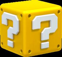 Artwork of a? Block, from Super Mario 3D World.