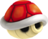 A Red Shell from Mario Kart 7.