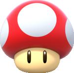 Artwork of a Dash Mushroom from Super Mario Party