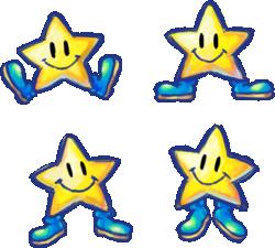 Artwork of Stars from Yoshi's New Island.