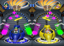 A duel in Ion the Prize in Mario Party 8