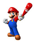 Mario's artwork for Mario Super Sluggers