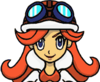 Mona's face. Transparency is as it is ripped, so please do not remove the background. From WarioWare, Inc.: Mega Microgame$!.
