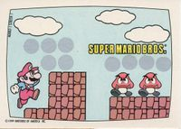 A Nintendo Game Pack scratch-off game card of Super Mario Bros. (Screen 1 of 10)