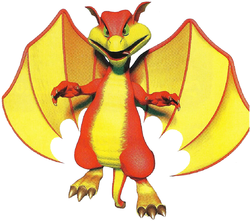 Smokey the Dragon in Diddy Kong Racing.