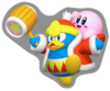 Sticker of Kirby and King Dedede.
