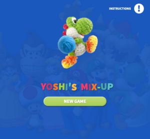 Yoshi's Mix-Up title screen