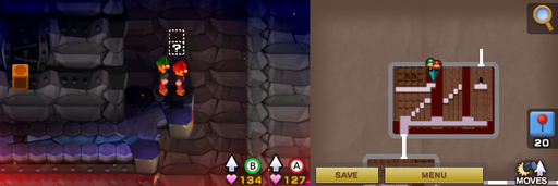 Location of the third hidden block in Bowser's Castle.