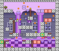 Level 10-7 map in the game Mario & Wario.