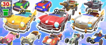 The Classic Car Pipe from the Peach Tour in Mario Kart Tour