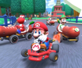 The icon of the Wendy Cup challenge from the Berlin Tour in Mario Kart Tour.