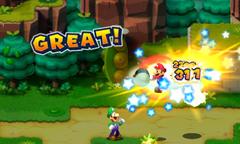 Screenshot of the Chopper Bros. Bros. Attack in Mario & Luigi: Superstar Saga + Bowser's Minions