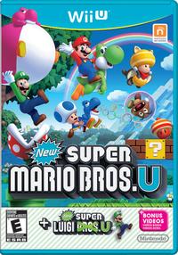 North American box art of New Super Mario Bros. U + New Super Luigi U