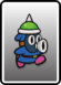 A Blue Spike Snifit card from Paper Mario: Color Splash