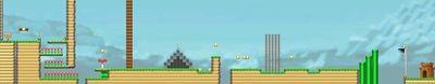 Layout of Cat Mario's Course in Super Mario Maker.