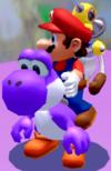 Purple Yoshi in Super Mario Sunshine.