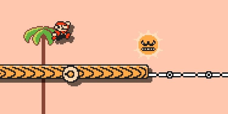 Picture shown with the first question in Angry Sun Super Mario Maker 2 Quiz