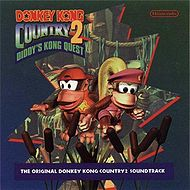 Donkey Kong Country 2: Diddy's Kong Quest OST front cover.