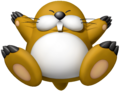 Artwork of Monty Mole from Mario Super Sluggers (also used in Mario Kart Tour and Super Mario Party)