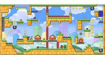 Miiverse screenshot of the 22nd official level in the online community of Mario vs. Donkey Kong: Tipping Stars