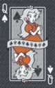The Queen of Spades card from the NAP-06 deck.