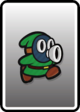 A Green Snifit card from Paper Mario: Color Splash