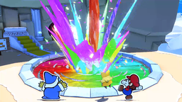 Spring of Rainbows in Paper Mario: The Origami King.