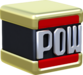 Artwork of a POW Block from Super Mario 3D World.