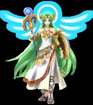 Artwork of Palutena, from Super Smash Bros. for Nintendo 3DS / Wii U.
