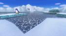 View of Sherbet Land in Mario Kart Wii