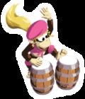 A sticker of Dixie Kong