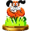 Dog trophy from Super Smash Bros. for Wii U