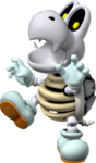 Artwork of Dry Bones from Mario Party 7 (also used in Mario Party DS, Mario Kart Wii and Mario & Sonic at the Rio 2016 Olympic Games)