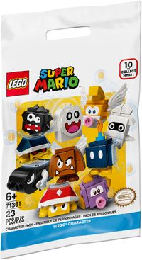 The packaging of series 1 of the LEGO Super Mario Character Packs.