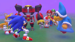 Mario, Luigi, Toad, Sonic, Tails and Omega challenge Magikoopa