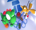 MASATOWG Yoshi and Tails curling.png