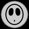 Shy Guy emblem from Mario Kart 8