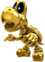 Artwork of Dry Bones (Gold) from Mario Kart Tour