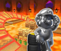 GBA Bowser's Castle 2R/T from Mario Kart Tour.