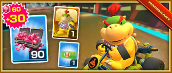 The Bowser Jr. Pack from the Paris Tour in Mario Kart Tour