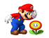 Artwork of Mario and a Fire Flower