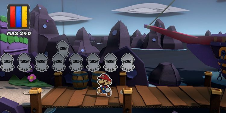 Picture shown with the fifth question of Paper Mario: Color Splash Personality Test
