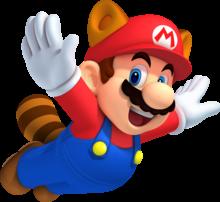 Raccoon Mario artwork from New Super Mario Bros. 2