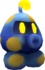 Rendered model of the Electrogoomba enemy in Super Mario Galaxy.